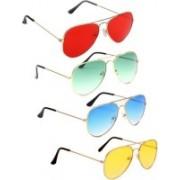 alience Aviator Sunglasses(Red, Green, Blue, Yellow)
