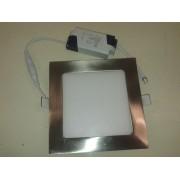 Painel LED Embutir 6W Cromado 6400K