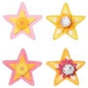 WeGlow International Felt Embellishment Pastel Color Stars Set of 8