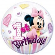 "Happy 1st Birthday, Minnie 22""/56cm"