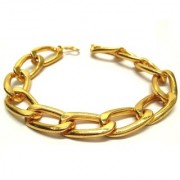 18KT goldplated FATHERS DAY SPECIAL INTERLOOPED bracelet by GoldNera