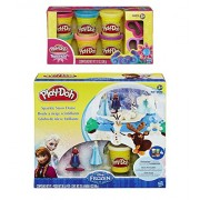 Play-Doh Disney Frozen Sparkle Snow Dome Set with Elsa and Anna + Extra Play-Doh Sparkle Compound Collection Compound Net WT 12 oz - Bundle of 2 Items