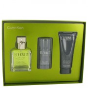 Calvin Klein Eternity EDT Spray 3.4oz/100.55mL + Deodorant 2.6oz/76.89mL + After Shave Balm 3.4oz/100.55mL Gift Set 515658