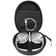 Headphone Case for Bose QuietComfort 35 Wireless Headphones II, QC35, QC25, QC2, QC15, QC3, SoundLink On-Ear, OE, OE2/2i; JBL E55BT, Quincy Edition, Tune 600, E45BT; Sony MDRXB950, XB650 (Black)