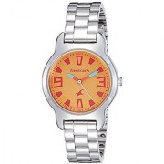 Fastrack Analog Yellow Dial Mens Watch-6127SM02