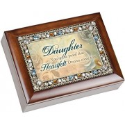 Cottage Garden Daughter Heartfelt Dreams Come True Musical Music Jewelry Box Plays You Light Up My L