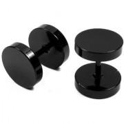 BeBold Piercing Black BarBell Dumbell Fashion Bali Stud Earrings for Men Boys