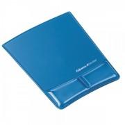 PALA Podložka pod myš a zápěstí Fellowes Health-V CRYSTAL gelová modrá