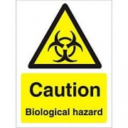 Unbranded Warning Sign Biological Plastic 20 x 15 cm
