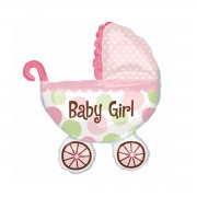 Balon folie metalizata Baby Girl carucior 79 cm