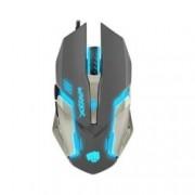 Мишка Fury Warrior, оптична (3200 dpi), USB, сива, гейминг, подсветка, 6 бутона