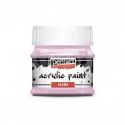 Pentart Matt rózsaszín színű akril bázisú hobbi festék 50 ml