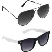 Hrinkar Aviator Sunglasses(Grey, Grey)