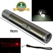 2in1 Waterproof Rechargeable LED Flashlight Torch Red Laser Pointer Pen Pocket Torch Light 5W 500MW With USB Charger