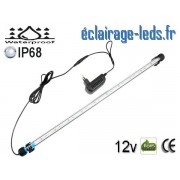 Tube LED 6.5W Submersible Blanc 58cm Aquarium IP68 12V ref tla-05