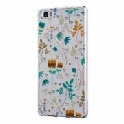 Husa Silicon Transparent Slim Spirng Flowers Huawei Honor 10