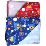 Dazzle water proof one side plastic bed protector reusable mat nappy changing cushioned diaper changing mat pack of 2