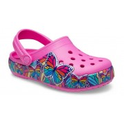 Crocs Fun Lab Multi-Butterfly Band Lights Klompen Kinder Electric Pink 24