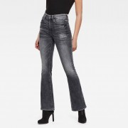 G-star RAW Femmes Jean 3301 High Flare Noir