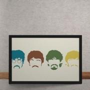 Quadro Decorativo Beatles Minimalista 25x35