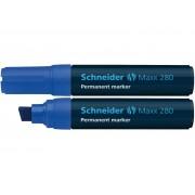 Permanent marker SCHNEIDER Maxx 280, varf tesit 4-12mm - albastru