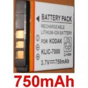 Batterie Pour KODAK KLIC7000 KLIC-7000 EasyShare LS755, EasyShare LS755 Zoom **750mAh**
