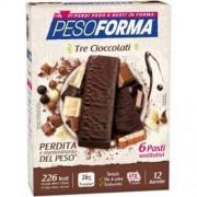 Nutrition & Sante' Italia Spa Pesoforma Barrette 3 Cioccolati