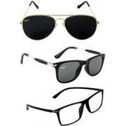 Rich Club Aviator, Wayfarer Sunglasses(Black, Blue, Clear)