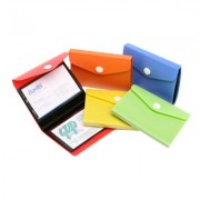 BEAUTONE 32680 BUSINESS CARD WALLET HOLDS 40 CARDS BLUE
