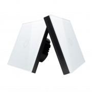Intrerupator simplu RF cu touch, tip cap scara, panou de sticla si telecomanda tip panou
