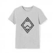 T-shirt met ronde hals en geometrische print