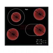 Стъклокерамичен плот за вграждане Whirlpool AKT8190/BA, 6300W, 4 нагревателни зони, Touch управление, защита от деца, черен