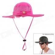 NatureHike al aire libre Pesca casquillo del sombrero bloqueador de secado rapido - color rosa oscuro