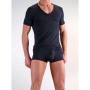 Olaf Benz RED 1203 Low V Neck Short Sleeved T Shirt Black 1-05854/8000 NOS