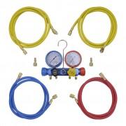 vidaXL 4-посочен комплект преходи за колекторен манометър