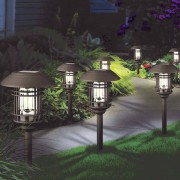GTX Large Vintage Solar Pathway Lights 8 Pack