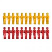 Náhradné figúrky na stolný futbal 22 ks - farba žltá, červená