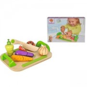 Детска дървена дъска за рязане със зеленчуци Eichhorn, 043108