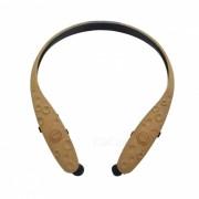 Bluetooth V4.1 auriculares estereo retractil APTX para deportes - marron