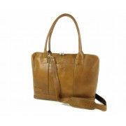 "Plevier Dames business laptoptas 15,6"" Cognac"