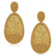 Spargz Antique Oval Design Earring In High Gold Finish AIER 523