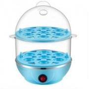 TOPHAVEN Double Layer Boiler Steamer New Electric Boiler Egg Cooker(Blue, 14 Eggs)