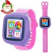Game Smart Watch for Kids Children Boys Girls with Camera 1.5'' Touch 10 Games Pedometer Timer Alarm Clock Toy Wrist Watch Health Monitor (Pink) by GBD