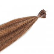 Rapunzel® Hair extensions Bondings Original Glatt M5.0/7.4 Golden Brown Mix 50 cm
