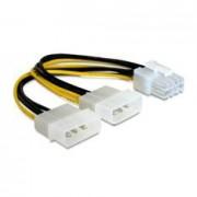 Cable Alimentacion Adaptador Interno Cc-psu-81 Pci-e 8 Pines - Molex X2/ Macho-macho/ 0.15m Pàra Tarjeta Grafica