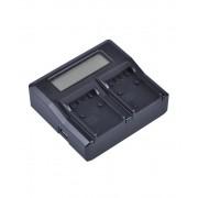 Digital Power Incarcator dual LCD pentru acumulator Sony NP FP50