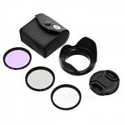 CPL FLD + + polarizador fluorescente UV Filtros + + cubierta de la lente de 52 mm de la capilla