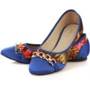 Vero Couture Bold Blossom Ballerinas Bellies For Women(Brown)