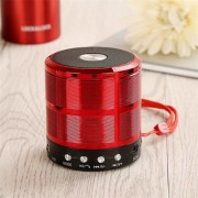 doitshop WS-887 Mini Bluetooth Wireless Speaker With Mic Micro SD Card Slot AUX Mode Memory Card USB. (red)