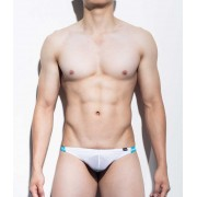 Mategear Rang Se Special Fabrics Series Textured Ultra Sexy Maximizer Thong Underwear White 1091201